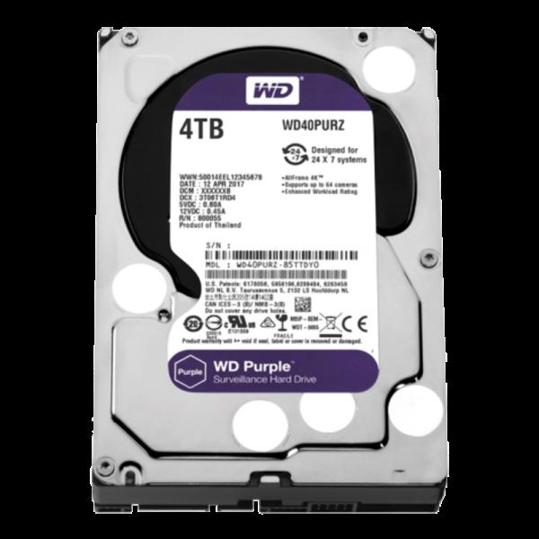 Hard disk 4TB SATA3 Western Digital Caviar 64MB WD40PURZ Purple